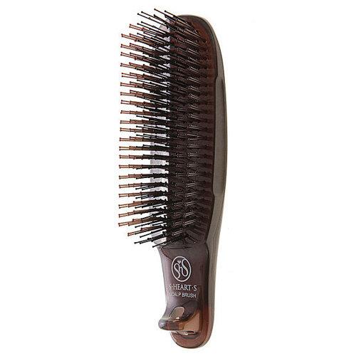 S-Heart-S Short Scalp Brush Brown