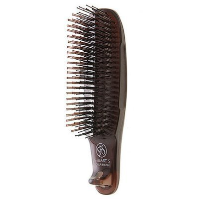 S-Heart-S Short Scalp Brush Brown