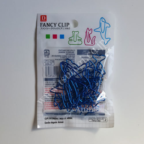 Fancy Clip Animal 12Pcs Blue