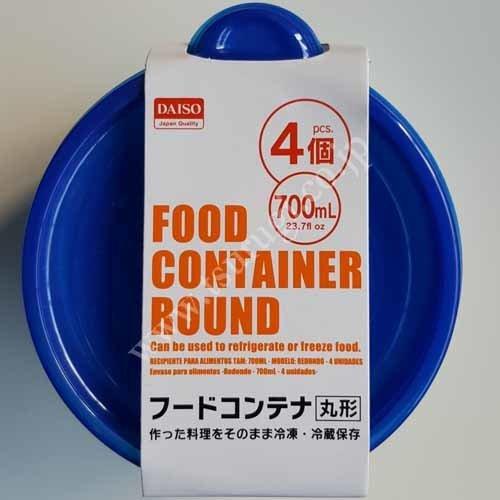 Food Container Round 700ml 4Pcs