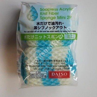 Soapless Acrylic Knit Fiber Sponge Mini 2Pcs