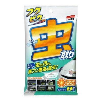 Soft99 Fukupika Bugs & Droppings Removal Wipes