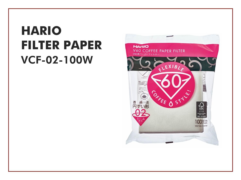 HARIO V60 Filter Paper VCF-02-100W