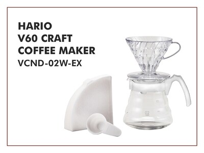 HARIO V60 Coffee Maker (Starter Kit) VCND-02W-EX