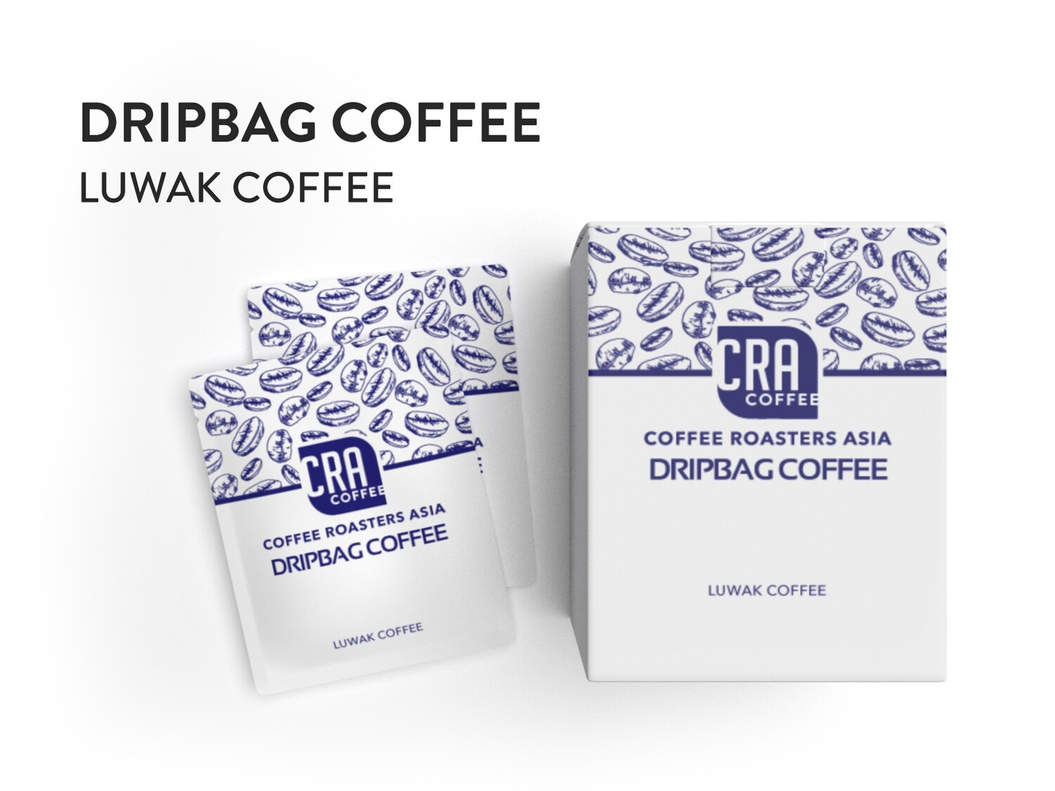 Drip Bag Coffee - Luwak Coffee 10 bags (medium dark roast)