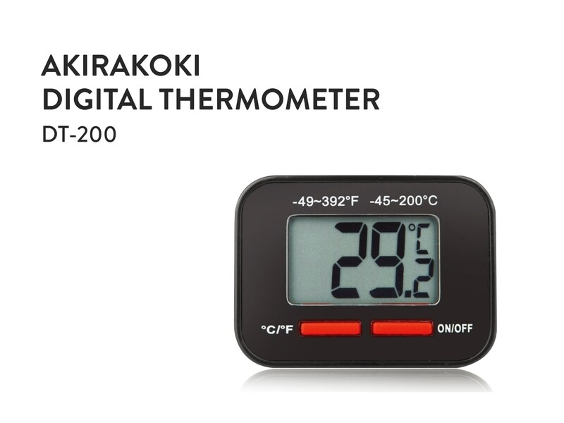Akirakoki Digital Thermometer DT-200 Black
