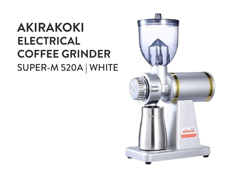 Akirakoki Electrical Coffee Grinder M-520A White