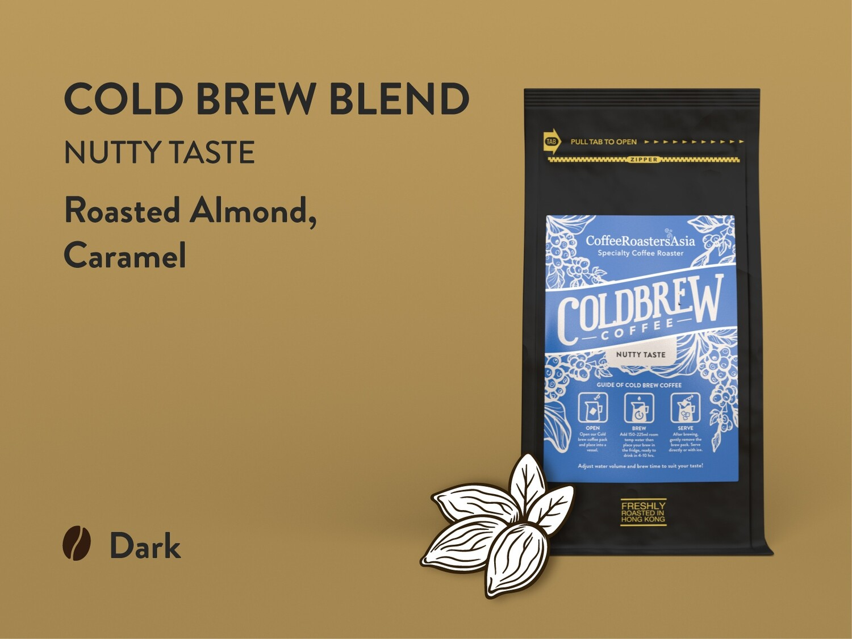 Cold Brew Blend Coffee - Dark Roast Nutty Taste