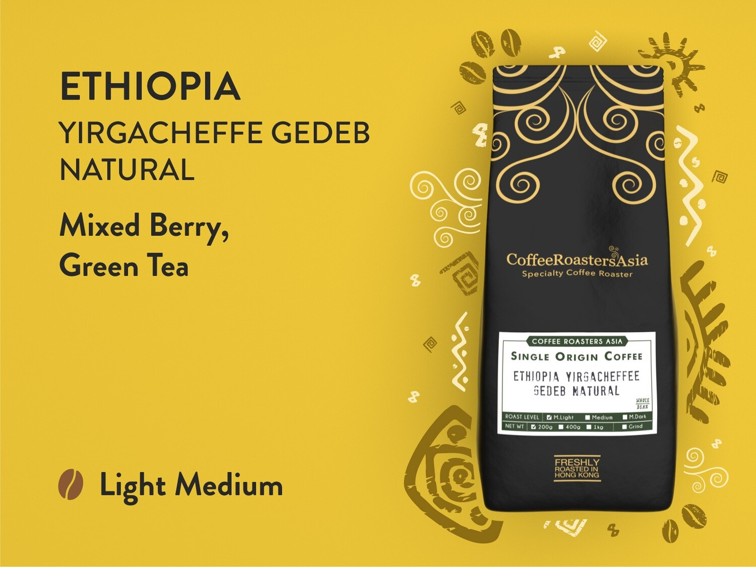 Ethiopia Yirgacheffe Gedeb Natural Coffee *L