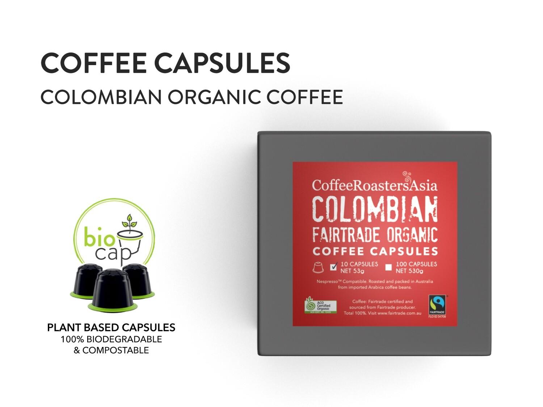 Colombia Organic Coffee Capsule (100% Fair Trade FTO & bio-degradable)