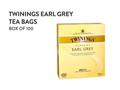 TWININGS Earl Grey Tea Bags - Box of 100