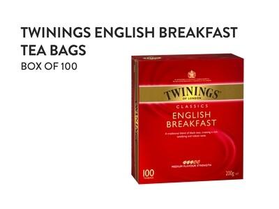 TWININGS English Breakfast Tea Bags - Box of 100