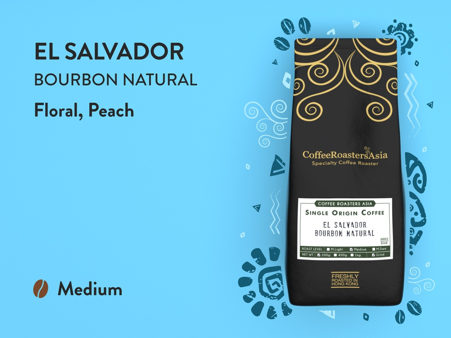 El Salvador Bourbon Natural Coffee