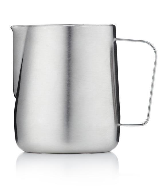 Barista & Co Milk Jug- Brushed Steel (420ml)