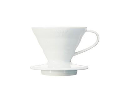 HARIO V60 Coffee Dripper 01 Ceramic - White