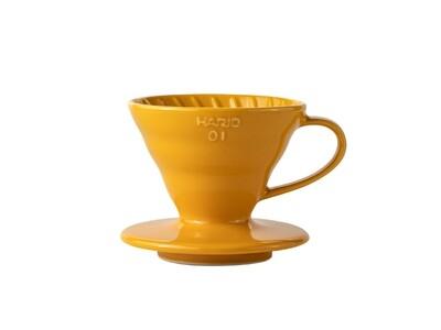 HARIO V60 Coffee Dripper 01 Ceramic - Orange