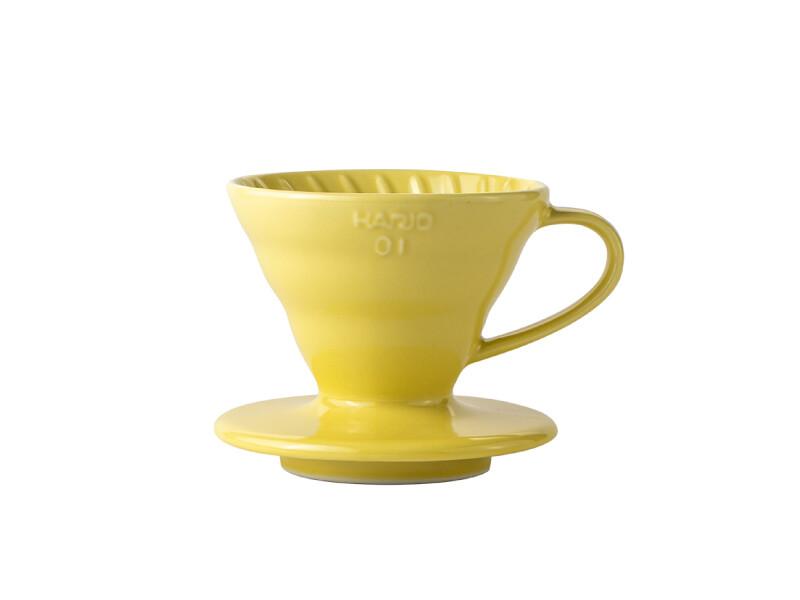HARIO V60 Coffee Dripper 01 Ceramic - Yellow
