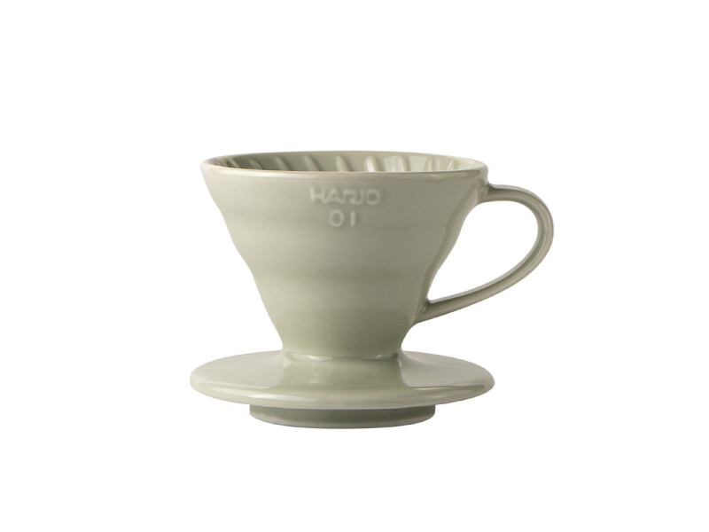 HARIO V60 Coffee Dripper 01 Ceramic - Light Grey