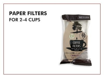 Paper Filters - Bleached (For 2-4 Cups)