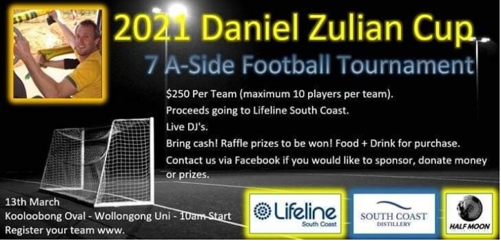 Donation to DZ Cup Fundraiser by UOW Football Club