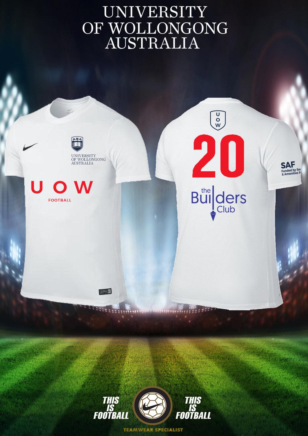 UOWFC 2021 Nike Away White Playing Jersey