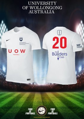 UOWFC 2020 Nike Home White Playing Jersey - Mens