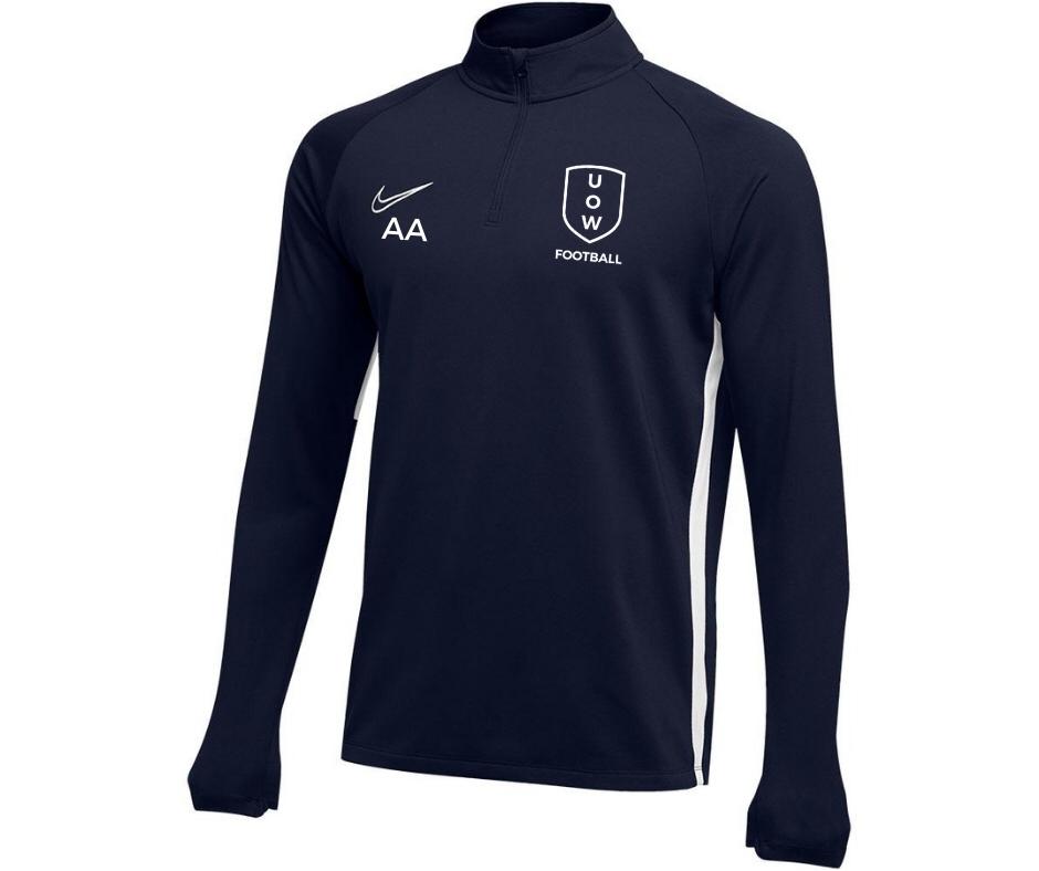UOWFC 2020 Nike Academy Midlayer Top - Navy/White