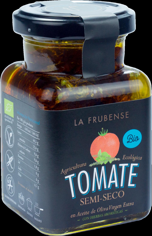 Tomate semiseco con hierbas aromáticas en aceite