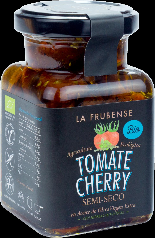 Tomate Cherry semiseco con hierbas aromáticas en aceite