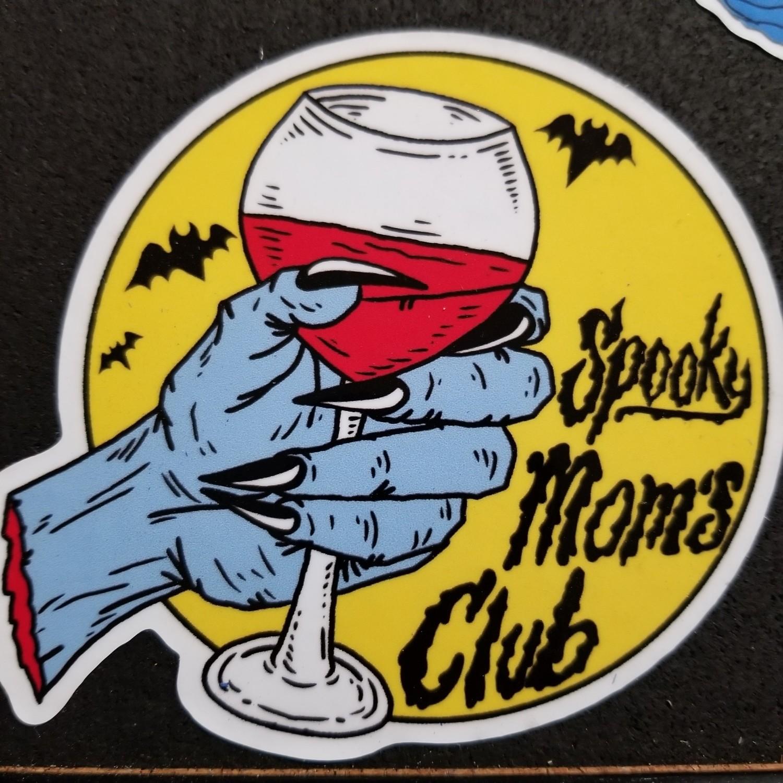Spooky Moms Wine (sticker)