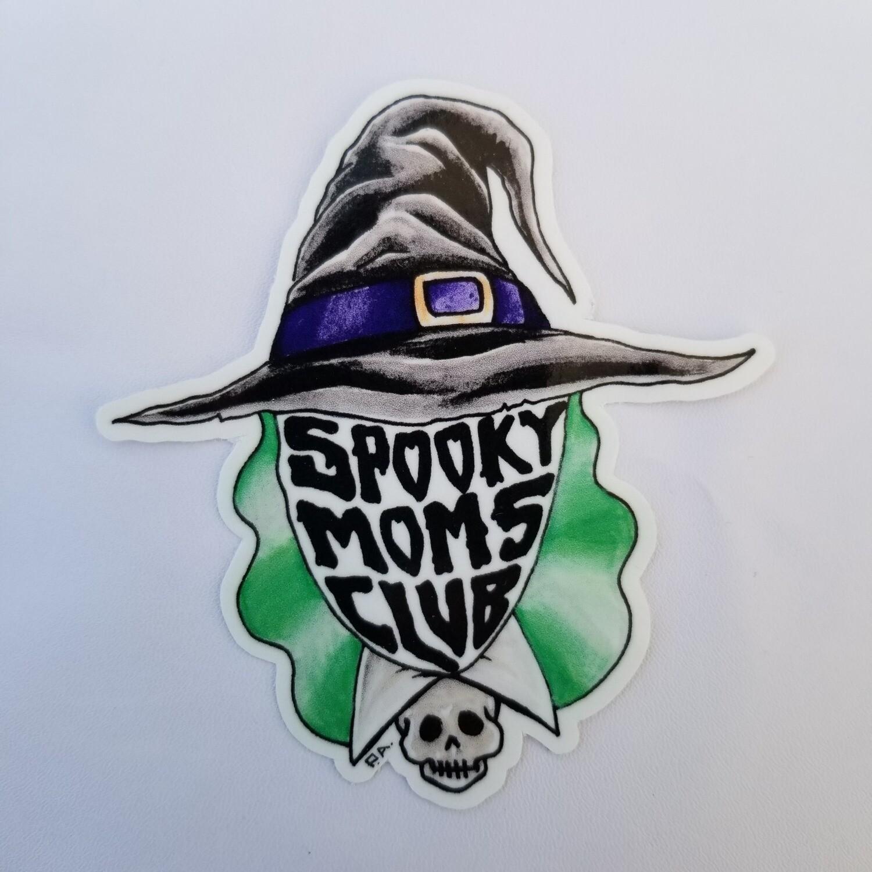 Bruja-Spooky Mom's Club sticker