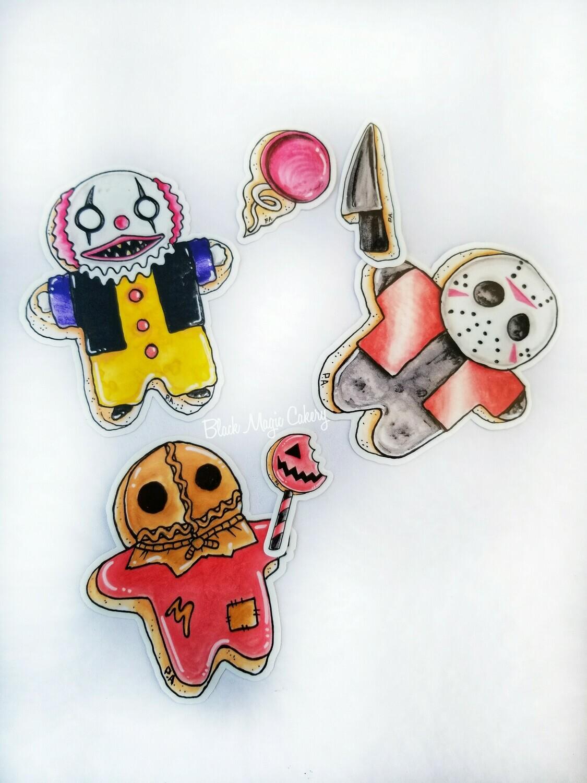 Tiny Killers Sticker Set