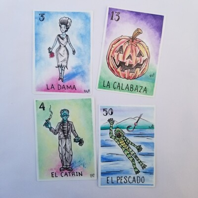 Horror Loteria Sticker Set