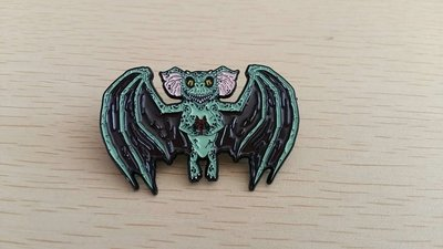 Bat Gremlin holiday pin