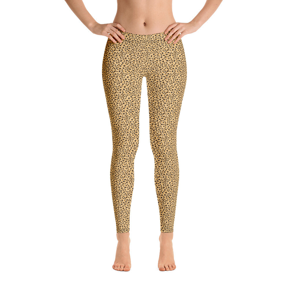 Small Animal Skin Pattern Modern Leggings for Women USA