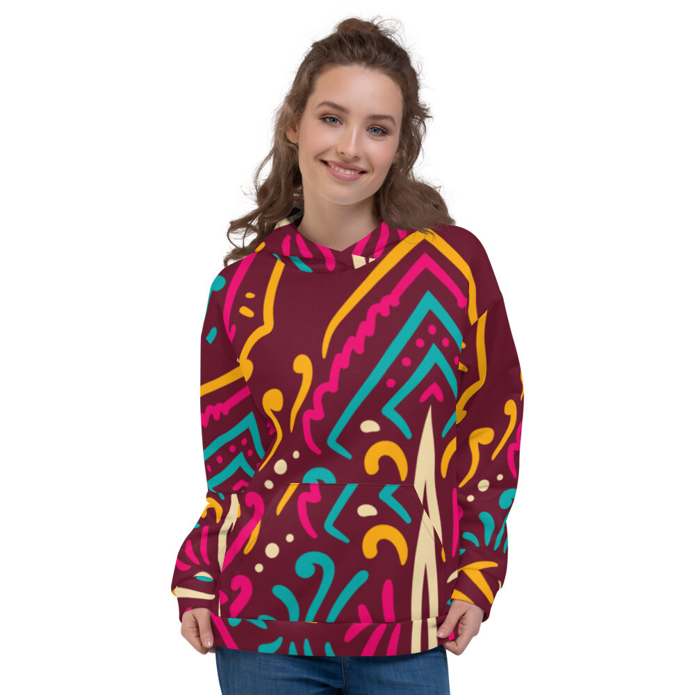 Flusi- Christmas Printed Pullover Unisex Hoodie
