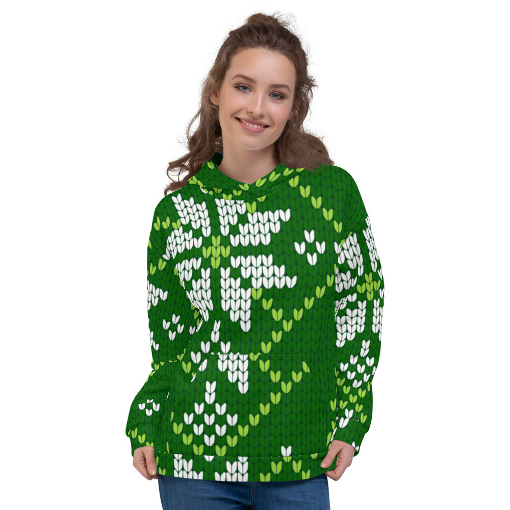 Embroidery Christmas Pullover Unisex Hoodie