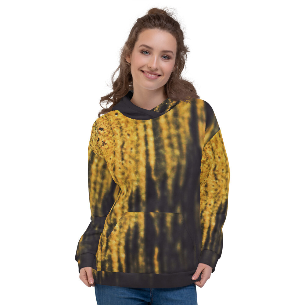 Gold Dust Printed Pullover Unisex Hoodie