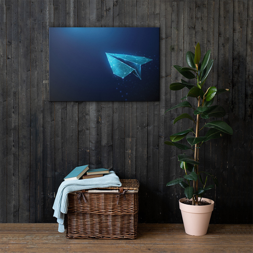 Paper Airplane Printed Canvas