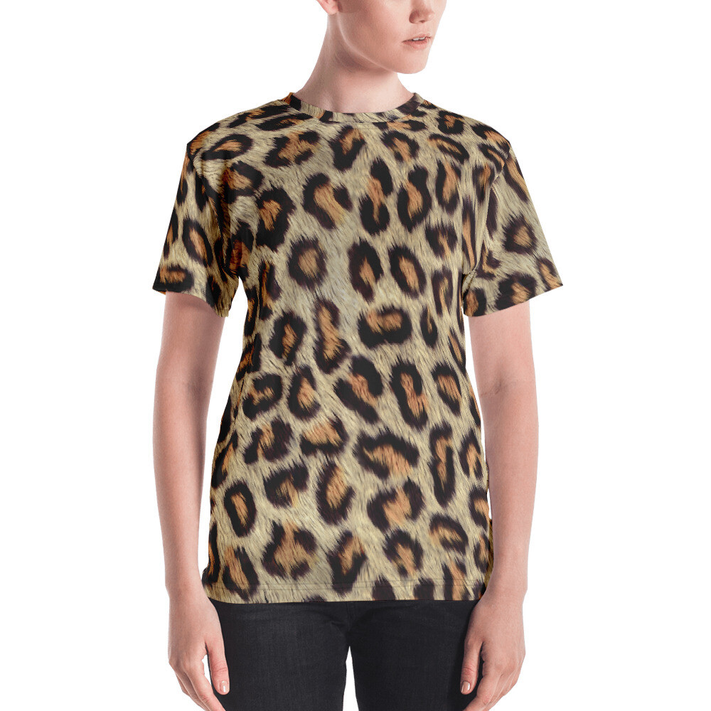 Cheetah Skin Printed Women's T-shirt