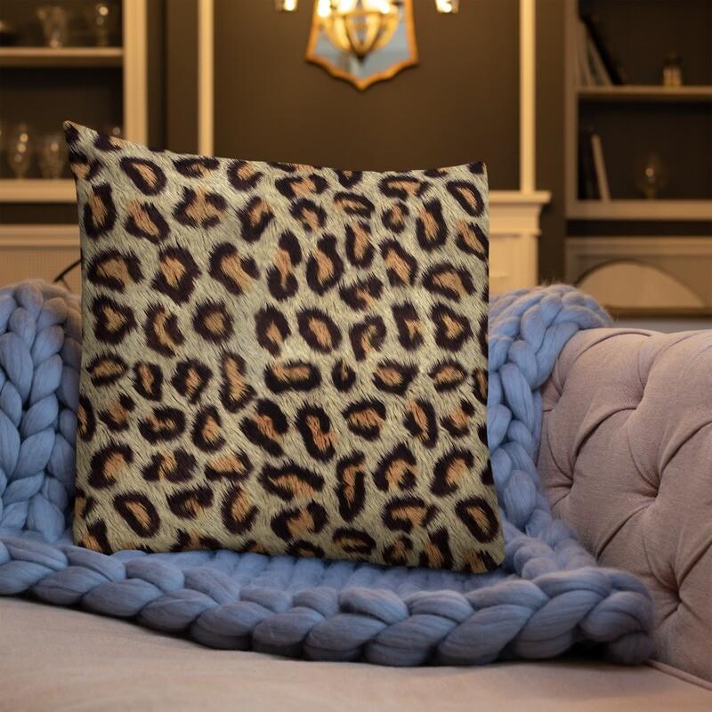 Cheetah Skin Printed Premium Pillow