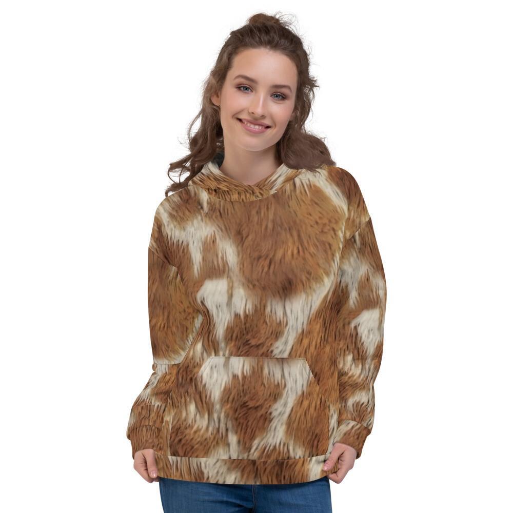 Jaraf Printed Fur Real Unisex Hoodie