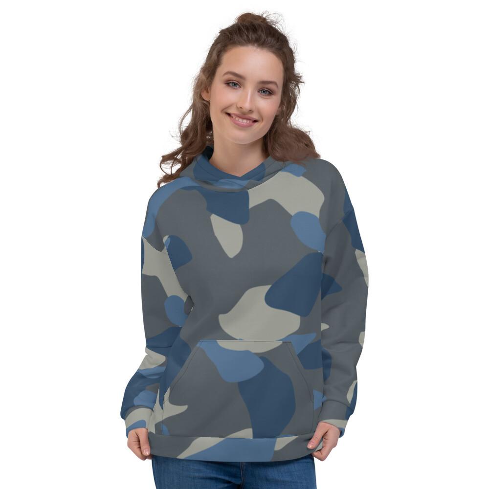 Camo Blue Army Unisex Hoodie