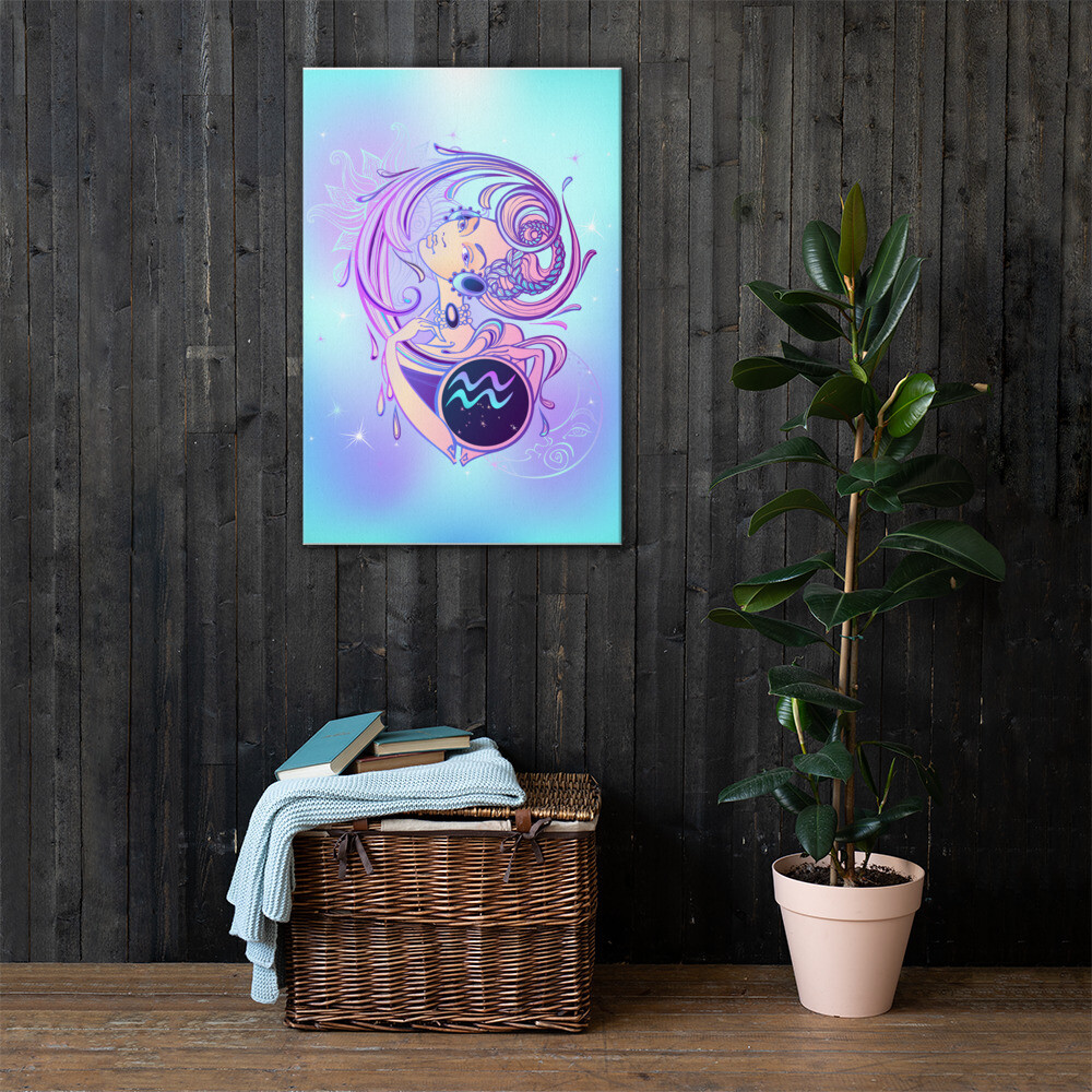 Aquarius Printed Canvas
