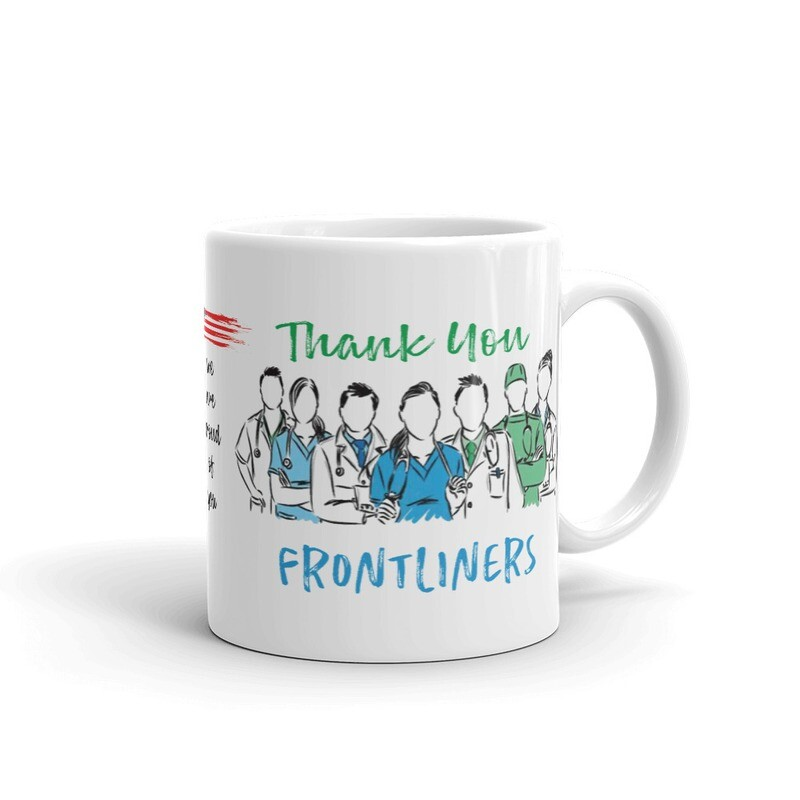 Thank You Front Liners Special Glossy Mug USA Printed