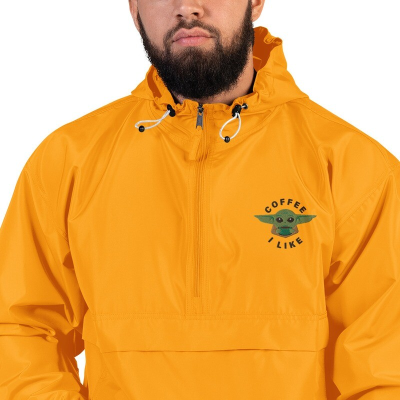 Coffee I Like Embroidered Champion Packable Jacket