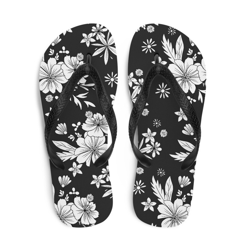 White Flora Flip-Flops