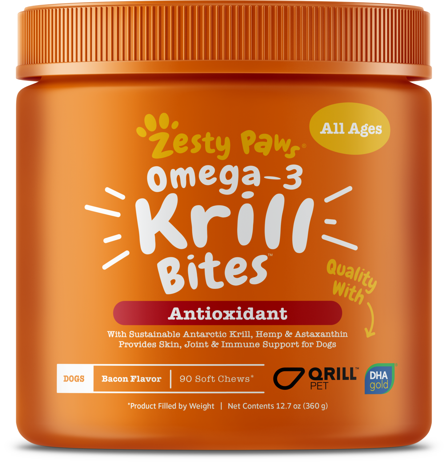 Krill Bites with Sustainable Antarctic Krill + DHA Gold® and QRILL Pet for Dogs