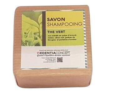 Shampooing solide au thé vert