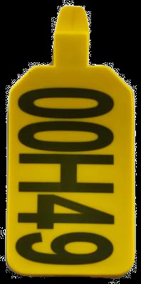 Long Range Single Piece UHF Ear Tag - pack of 10